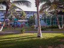 Plan semesterort på Porto de Galinhas, Pernambuco, Brasilien arkivfoto