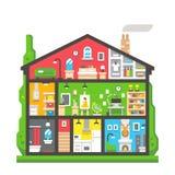 Plan sikt för designhemmiljösida Royaltyfri Foto