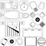 Plan simple de los muebles/de suelo (esquema) libre illustration
