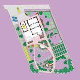Plan of the site to the house Royalty Free Stock Photography