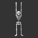 Plan skelett- isolerad vektor för tecknad film symbol Vektor Illustrationer