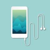 Plan smartphone isolerad vektor för bästa sikt Stock Illustrationer