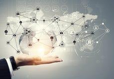 Plan social de mise en réseau 3d rendent Photos stock