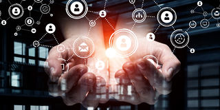 Plan social de mise en réseau Media mélangé Media mélangé Images libres de droits