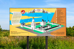 Plan of the St. George monastery in Novgorod, Russia Royalty Free Stock Photography