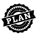 Plan stamp rubber grunge Royalty Free Stock Photography