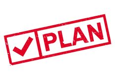 Plan stamp rubber grunge Stock Images