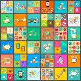 Plan stilpictogram för användargränssnittjumbosamling Arkivbild