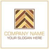 Plan stilvektor Logo Laminate/parkett för Durk Företag vektor illustrationer