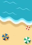 Plan strandvektor Royaltyfria Bilder