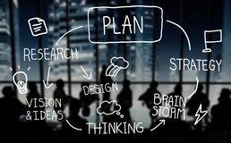 Plan Strategy Brainstorming Thinking Creativity Success Concept Stock Photo