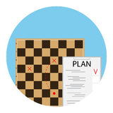 Plan strategy icon. Development strategy planning, vector illustration Royalty Free Stock Photography