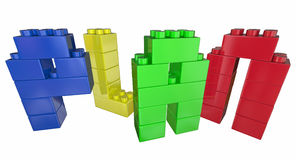 Plan Strategy Tactics Vision Building Blocks. 3d Illustration Royalty Free Stock Photos