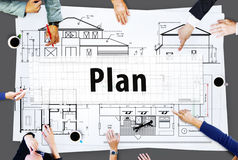 Plan Strategy Vision Tactics Design Planning Concept Stock Photo