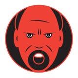 Plan symbol av en ilsken man stock illustrationer