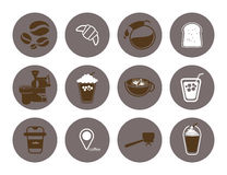 Plan symbol för coffee shop Royaltyfria Foton