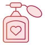 Plan symbol för doft Rosa symboler för arom i moderiktig plan stil Design för doftlutningstil som planläggs för rengöringsduk och vektor illustrationer