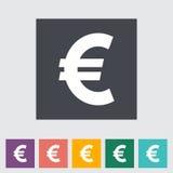 Plan symbol för euro stock illustrationer