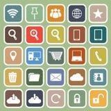 Plan symbol för internet på grön bakgrund stock illustrationer