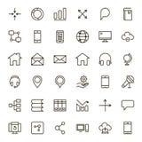 Plan symbol för kommunikation Arkivfoton