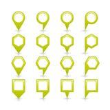 Plan symbol för läge för tecken för stift för översikt för grön färg Arkivfoto