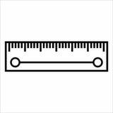 Plan symbol för linjal Royaltyfri Fotografi