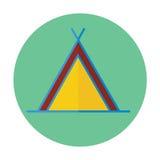Plan symbol för tält Vektor Illustrationer