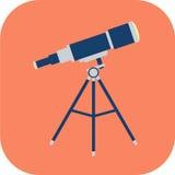 Plan symbol för teleskop Royaltyfri Foto