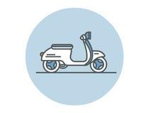 Plan symbol för vektor av sparkcykeln Arkivbilder