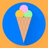Plan symbol för vektor glasskotten Arkivbilder