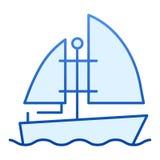 Plan symbol f?r yacht Bl stock illustrationer