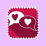 Plan symbol för valentindag Fotografering för Bildbyråer
