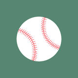 Plan symbolsbaseballboll stock illustrationer