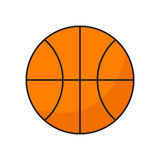 Plan symbolsbasketboll stock illustrationer