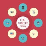 Plan symbolsidentitet, musikinstrument, ferie och andra vektorbeståndsdelar Royaltyfri Foto