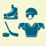 Plan symbolsishockey Royaltyfri Fotografi