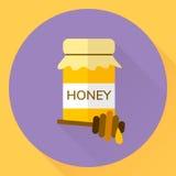 Plan symbolskrus för vektor av honung, pinne för honung Arkivfoton