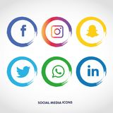 Plan symbolsteknologi, socialt massmedia, nätverk, datorbegrepp Abstrakt bakgrund med objektgruppen av beståndsdelar stjärnasmile stock illustrationer