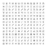 Plan symbolsuppsättning Arkivfoton
