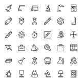 Plan symbolsuppsättning Arkivbilder