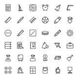 Plan symbolsuppsättning Arkivfoto