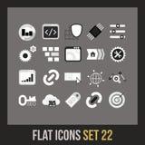 Plan symbolsuppsättning 22 Arkivfoton