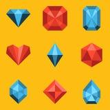 Plan symbolsuppsättning. Diamant Royaltyfri Foto
