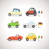 Plan symbolsuppsättning 8 för bil Arkivfoto