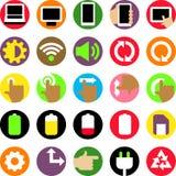 Plan symbolsuppsättning för dator Royaltyfri Foto