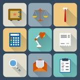 Plan symbolsuppsättning för finans. Arkivfoto