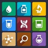 Plan symbolsuppsättning 49 för kemikalie vektor illustrationer