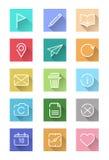 Plan symbolsuppsättning för website och smart apparat. Royaltyfri Fotografi
