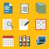 Plan symbolsuppsättning. Papper Fotografering för Bildbyråer