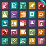 Plan symbolsuppsättning Arkivbild